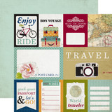 Getaway: Journaling Cards 12x12 Patterned Paper