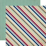 Getaway: Travel Stripe 12x12 Patterned Paper