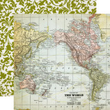 Getaway: Map 12x12 Patterned Paper