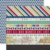 Getaway: Border Strips 12x12 Patterned Paper