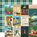 Gone Camping: 3x4 Journaling Cards 12x12 Patterned Paper
