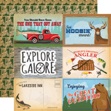 Gone Camping: 4x6 Journaling Cards 12x12 Patterned Paper