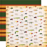 Gone Camping: Fly Fishing 12x12 Patterned Paper