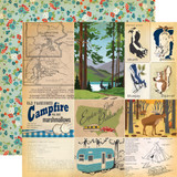 Gone Camping: Journaling Cards 12x12 Patterned Paper