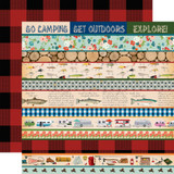 Gone Camping: Border Strips 12x12 Patterned Paper
