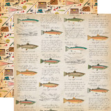 Gone Camping: Fish Facts 12x12 Patterned Paper