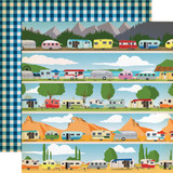 Gone Camping: Happy Campers 12x12 Patterned Paper