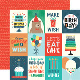 Happy Birthday Boy: 3X4 Journaling Cards 12x12 Patterned Paper