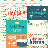 Happy Birthday Boy: 4X6 Journaling Cards 12x12 Patterned Paper