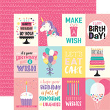 Happy Birthday Girl: 3X4 Journaling Cards 12x12 Patterned Paper