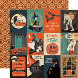 Happy Halloween: 3x4 Journaling Cards 12x12 Patterned Paper