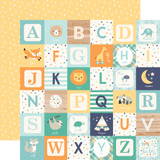 Hello Baby Boy: Boy Alphabet Blocks 12x12 Patterned Paper