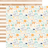 Hello Baby Boy: Baby Boy Words 12x12 Patterned Paper