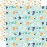 Hello Baby Boy: Boy Clothesline 12x12 Patterned Paper
