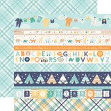 Hello Baby Boy: Border Strips 12x12 Patterned Paper