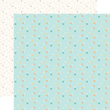 Hello Baby Boy: Boy Diaper Pins 12x12 Patterned Paper