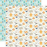Hello Baby Boy: Little Wild Ones 12x12 Patterned Paper