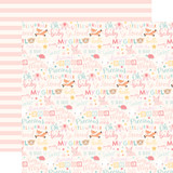 Hello Baby Girl: Baby Girl Words 12x12 Patterned Paper