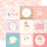 Hello Baby Girl: 4x4 Journaling Cards 12x12 Patterned Paper