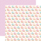 Hello Baby Girl: Bassinets 12x12 Patterned Paper
