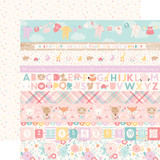 Hello Baby Girl: Border Strips 12x12 Patterned Paper