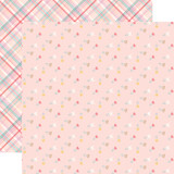 Hello Baby Girl: Girl Diaper Pins 12x12 Patterned Paper