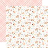 Hello Baby Girl: Woodland Friends 12x12 Patterned Paper