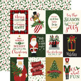 Here Comes Santa Claus: 3x4 Journaling Cards 12x12 Patterned Paper