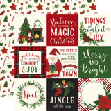 Here Comes Santa Claus: 4x4 Journaling Cards 12x12 Patterned Paper