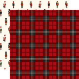 Here Comes Santa Claus: Christmas Plaid 12x12 Patterned Paper