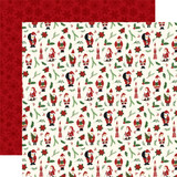 Here Comes Santa Claus: Deck the Halls 12x12 Patterned Paper