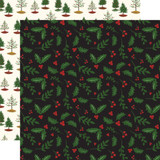 Here Comes Santa Claus: Holly Berries 12x12 Patterned Paper