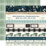 Home Again: Border Strips 12x12 Patterned Paper