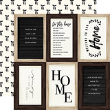 Home Again: 4x6 Journaling Cards 12x12 Patterned Paper
