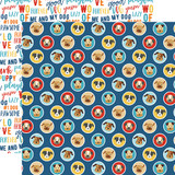 I Love My Dog: Puppy Love 12x12 Patterned Paper