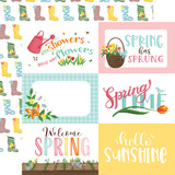 I Love Spring: 6X4 Journaling Cards 12x12 Patterned Paper