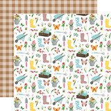 I Love Spring: Garden Party 12x12 Patterned Paper