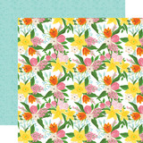 I Love Spring: Fresh Cut Flowers 12x12 Patterned Paper