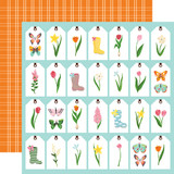 I Love Spring: Spring Tags 12x12 Patterned Paper