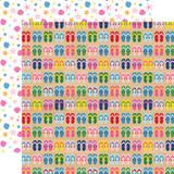 I Love Summer: Flip Flops 12x12 Patterned Paper