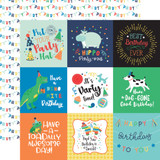 It's Your Birthday Boy: 4X4 Journaling Cards 12x12 Patterned Paper