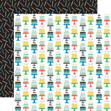 It's Your Birthday Boy: Birthday Boy Cakes 12x12 Patterned Paper