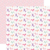 It's Your Birthday Girl: Unicorn Balloons 12x12 Patterned Paper