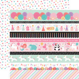 It's Your Birthday Girl: Border Strips 12x12 Patterned Paper