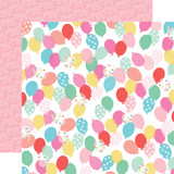 Let's Party: Birthday Balloons 12x12 Patterned Paper