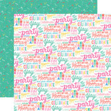 Let's Party: Hooray Words 12x12 Patterned Paper