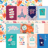 Let's Travel: 3x4 Journaling Cards 12x12 Patterned Paper