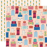 Let's Travel: Bon Voyage 12x12 Patterned Paper