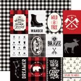 Little Lumberjack: 3X4 Journaling Cards 12x12 Patterned Paper