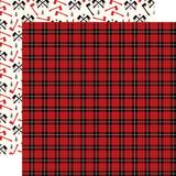 Little Lumberjack: Lumberjack Plaid 12x12 Patterned Paper